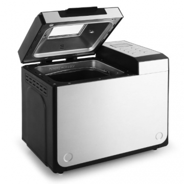 Klarstein Country-Life Brotbackautomat Brotbackmaschine vollautomatischer Edelstahl-Brotautomat für 1 kg Brot (12 Backprogramme, Timer, Warmhalte- & Knet-Funktion) schwarz-silber - 3