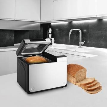 Klarstein Country-Life Brotbackautomat Brotbackmaschine vollautomatischer Edelstahl-Brotautomat für 1 kg Brot (12 Backprogramme, Timer, Warmhalte- & Knet-Funktion) schwarz-silber - 4