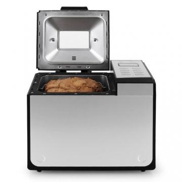 Klarstein Country-Life Brotbackautomat Brotbackmaschine vollautomatischer Edelstahl-Brotautomat für 1 kg Brot (12 Backprogramme, Timer, Warmhalte- & Knet-Funktion) schwarz-silber - 6