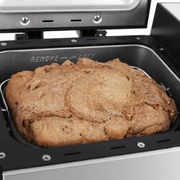 Klarstein Country-Life Brotbackautomat Brotbackmaschine vollautomatischer Edelstahl-Brotautomat für 1 kg Brot (12 Backprogramme, Timer, Warmhalte- & Knet-Funktion) schwarz-silber - 9