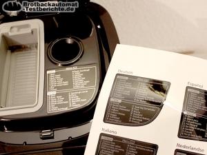 Panasonic SD ZB2512KXE Brotbackautomat Test Programme