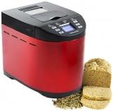 Andrew James - Automatischer Premium Brotbackautomat in Rot - Mit 12 vorprogrammierten Funktionen, automatischem Zutatenfach und Zeitverzögerungsfunktion - Inklusive 2 Jahren Garantie - 1