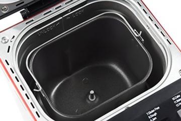 Andrew James - Automatischer Premium Brotbackautomat in Rot - Mit 12 vorprogrammierten Funktionen, automatischem Zutatenfach und Zeitverzögerungsfunktion - Inklusive 2 Jahren Garantie - 3