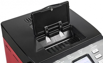 Andrew James - Automatischer Premium Brotbackautomat in Rot - Mit 12 vorprogrammierten Funktionen, automatischem Zutatenfach und Zeitverzögerungsfunktion - Inklusive 2 Jahren Garantie - 5