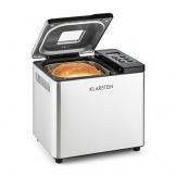 Klarstein Krümelmonster Brotbackautomat Brotmaschine (550 Watt, 750 g, 12 Backprogrammen, Timer-Funktion, edelstahl, Warmhaltefunktion) silber/schwarz -