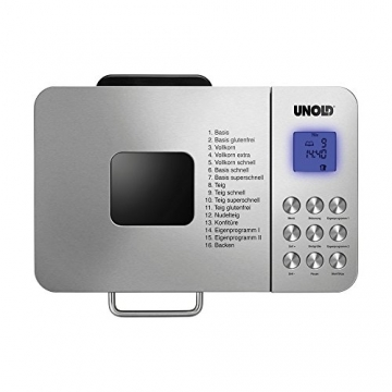 Unold Brotbackautomat Backmeister 68456 Bedienung Test