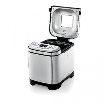 WMF KULT X Brotbackautomat, 450 W, 12 Backprogramme, 3 Bräunungsgrade, 2 Brotgrößen, cromargan matt/silber -