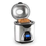 Klarstein City Life Brotbackmaschine Brotbackautomat (580 Watt, bis 900 g Brot, einstellbarer Bräunungsgrad, Timer-Funktion, 12 Backprogrammen, inkl. Zubehör, Edelstahl) silber -