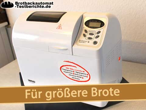 brotbackautomat test grosse brote unold backmeister extra